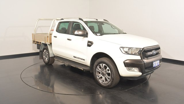Used Ford Ranger PX MkII Wildtrak Double Cab, 2015 Ford Ranger PX MkII Wildtrak Double Cab White 6 Speed Manual Utility
