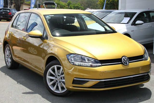 New Volkswagen Golf 7.5 MY18 110TSI DSG Comfortline, 2017 Volkswagen Golf 7.5 MY18 110TSI DSG Comfortline Tumeric Yellow 7 Speed