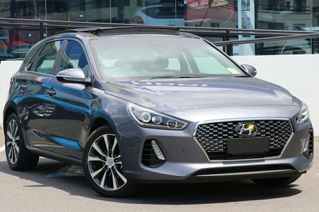 New Hyundai i30 PD MY18 Premium D-CT, 2018 Hyundai i30 PD MY18 Premium D-CT Iron Grey 7 Speed Sports Automatic Dual Clutch Hatchback