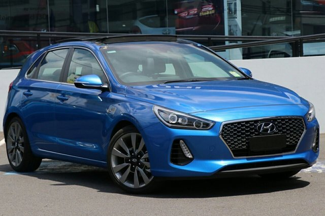 New Hyundai i30 PD MY18 SR D-CT Premium, 2018 Hyundai i30 PD MY18 SR D-CT Premium Marina Blue 7 Speed Sports Automatic Dual Clutch Hatchback