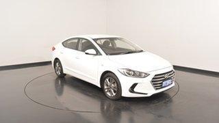2016 Hyundai Elantra AD MY17 Active Polar White 6 Speed Sports Automatic Sedan.
