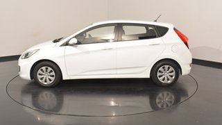 2016 Hyundai Accent RB4 MY16 Active Crystal White 6 Speed Manual Hatchback.