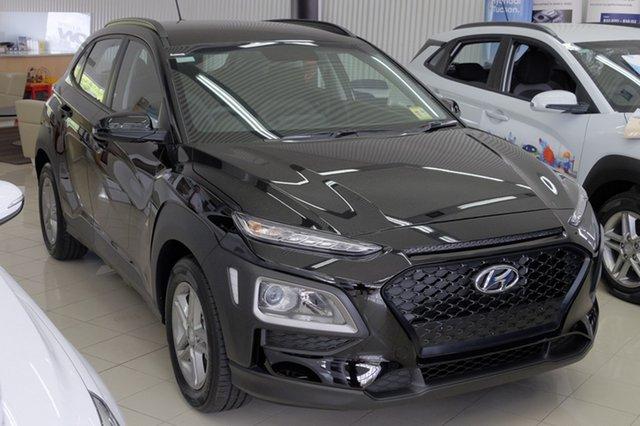 New Hyundai Kona OS MY18 Active 2WD, 2018 Hyundai Kona OS MY18 Active 2WD Phantom Black 6 Speed Sports Automatic Wagon