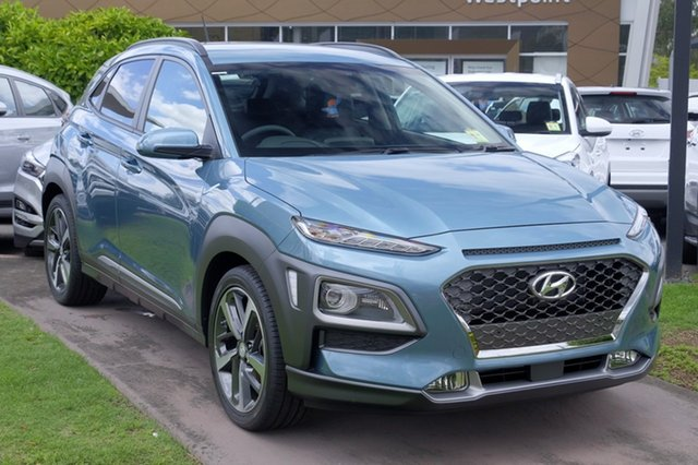 New Hyundai Kona OS MY18 Elite 2WD, 2018 Hyundai Kona OS MY18 Elite 2WD Blue Lagoon 6 Speed Sports Automatic Wagon