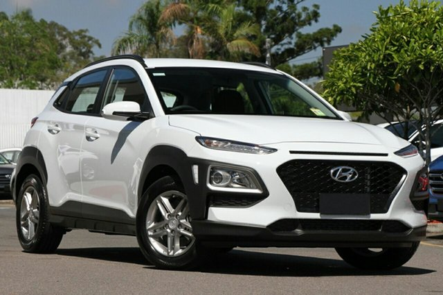 New Hyundai Kona OS MY18 Active D-CT AWD Albion, 2017 Hyundai Kona OS MY18 Active D-CT AWD Chalk White 7 Speed Sports Automatic Dual Clutch Wagon