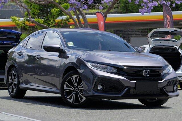 New Honda Civic 10th Gen MY18 VTI-LX, 2018 Honda Civic 10th Gen MY18 VTI-LX Modern Steel 1 Speed Constant Variable Hatchback