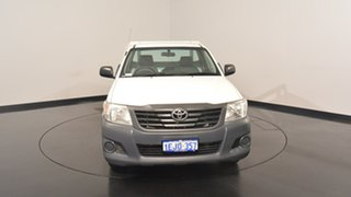 2013 Toyota Hilux TGN16R MY12 Workmate White 5 Speed Manual Cab Chassis