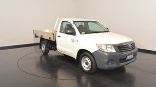 2013 Toyota Hilux TGN16R MY12 Workmate White 5 Speed Manual Cab Chassis.