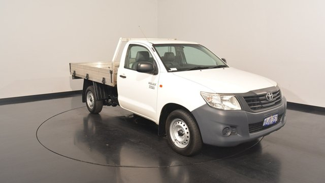 Used Toyota Hilux TGN16R MY12 Workmate, 2013 Toyota Hilux TGN16R MY12 Workmate White 5 Speed Manual Cab Chassis