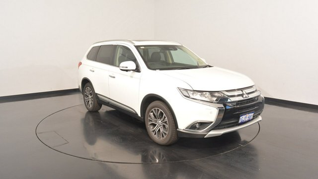 Used Mitsubishi Outlander ZK MY17 Exceed 4WD, 2016 Mitsubishi Outlander ZK MY17 Exceed 4WD White 6 Speed Constant Variable Wagon