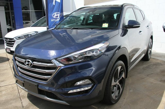 Demo Hyundai Tucson TLE2 MY18 Highlander D-CT AWD Albion, 2017 Hyundai Tucson TLE2 MY18 Highlander D-CT AWD Stargazing Blue 7 Speed