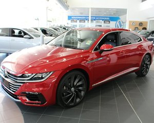 2017 Volkswagen Arteon 3H MY18 206TSI Coupe DSG 4MOTION R-Line Chilli Red 7 Speed.