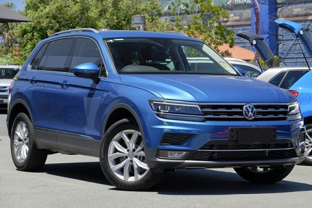 New Volkswagen Tiguan 5N MY18 140TDI DSG 4MOTION Highline, 2018 Volkswagen Tiguan 5N MY18 140TDI DSG 4MOTION Highline Caribbean Blue 7 Speed