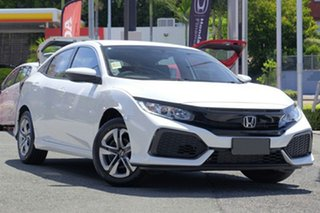 2019 Honda Civic 10th Gen MY18 VTi Platinum White 1 Speed Constant Variable Hatchback.