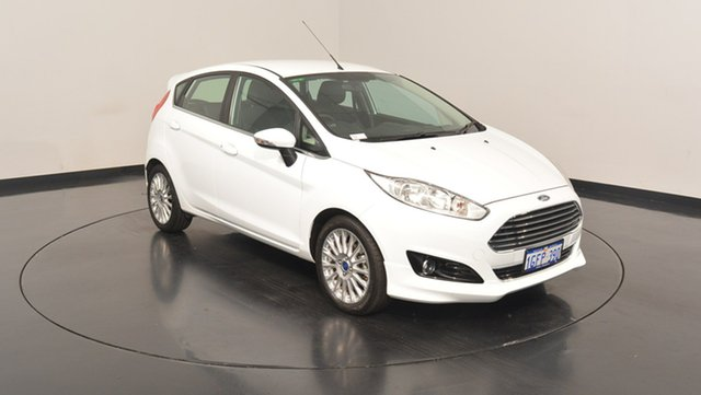 Used Ford Fiesta WZ Sport PwrShift, 2016 Ford Fiesta WZ Sport PwrShift Frozen White 6 Speed Sports Automatic Dual Clutch Hatchback
