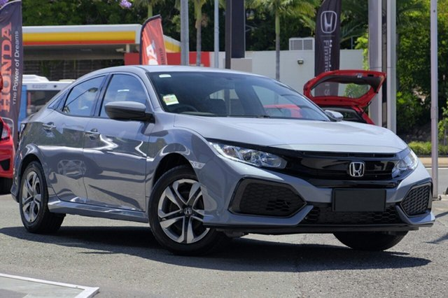 New Honda Civic 10th Gen MY19 VTi, 2019 Honda Civic 10th Gen MY19 VTi Sonic Grey 1 Speed Constant Variable Hatchback