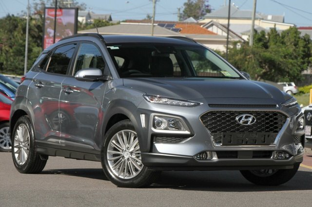 New Hyundai Kona OS MY18 Elite D-CT AWD Albion, 2017 Hyundai Kona OS MY18 Elite D-CT AWD Lake Silver 7 Speed Sports Automatic Dual Clutch Wagon