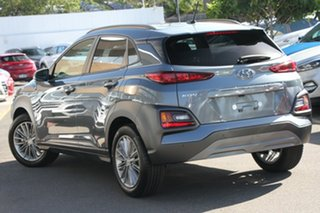2017 Hyundai Kona OS MY18 Elite D-CT AWD Lake Silver 7 Speed Sports Automatic Dual Clutch Wagon.