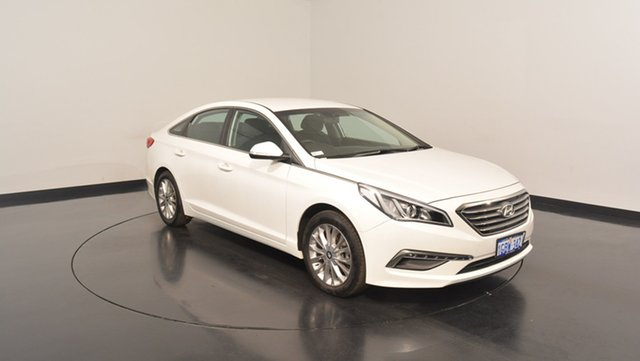 Used Hyundai Sonata LF3 MY17 Active, 2016 Hyundai Sonata LF3 MY17 Active Ice White 6 Speed Sports Automatic Sedan