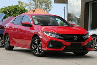2018 Honda Civic 10th Gen MY18 VTi-L Rallye Red 1 Speed Constant Variable Hatchback.