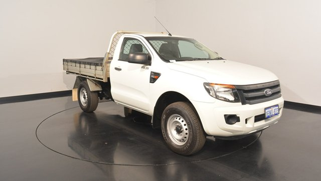 Used Ford Ranger PX XL Double Cab, 2014 Ford Ranger PX XL Double Cab Cool White 6 Speed Manual Cab Chassis