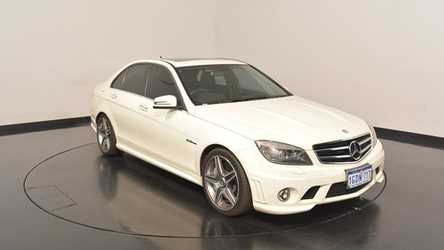 Used Mercedes-Benz C63 W204 MY11 AMG, 2011 Mercedes-Benz C63 W204 MY11 AMG White 7 Speed Sports Automatic Sedan
