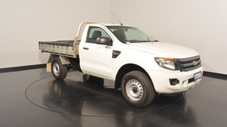 2014 Ford Ranger PX XL Double Cab Cool White 6 Speed Manual Cab Chassis