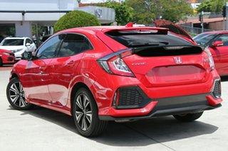 2018 Honda Civic 10th Gen MY18 VTi-L Rallye Red 1 Speed Constant Variable Hatchback.
