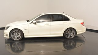2011 Mercedes-Benz C63 W204 MY11 AMG White 7 Speed Sports Automatic Sedan.