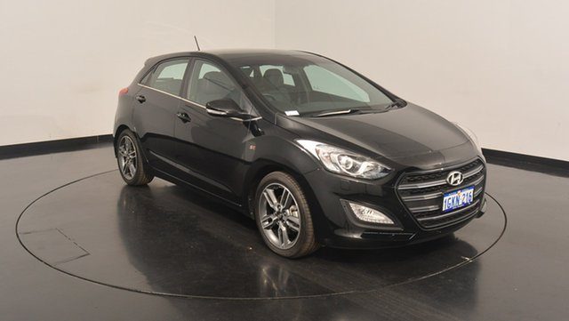 Used Hyundai i30 GD5 Series II MY17 SR Premium, 2017 Hyundai i30 GD5 Series II MY17 SR Premium Phantom Black 6 Speed Sports Automatic Hatchback