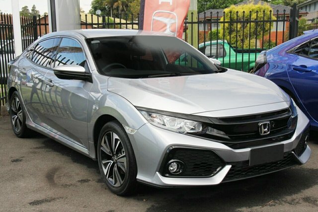 New Honda Civic 10th Gen MY19 VTi-L, 2019 Honda Civic 10th Gen MY19 VTi-L Lunar Silver 1 Speed Constant Variable Hatchback