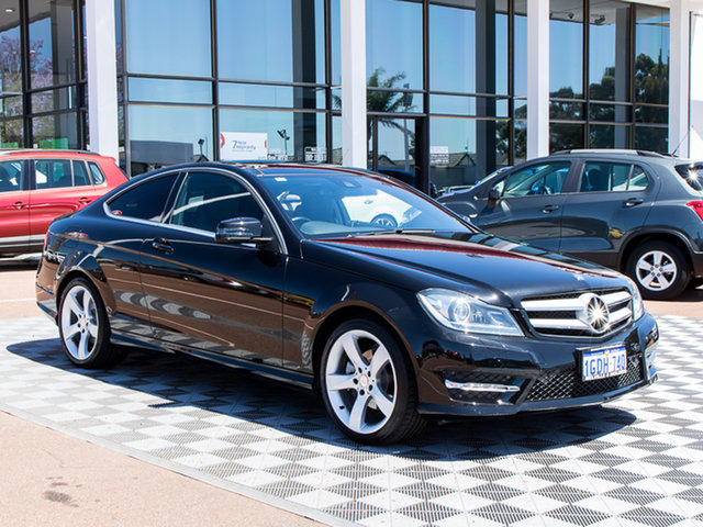 Used Mercedes-Benz C250 C204 MY13 7G-Tronic +, 2013 Mercedes-Benz C250 C204 MY13 7G-Tronic + Black 7 Speed Sports Automatic Coupe
