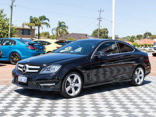 2013 Mercedes-Benz C250 C204 MY13 7G-Tronic + Black 7 Speed Sports Automatic Coupe.