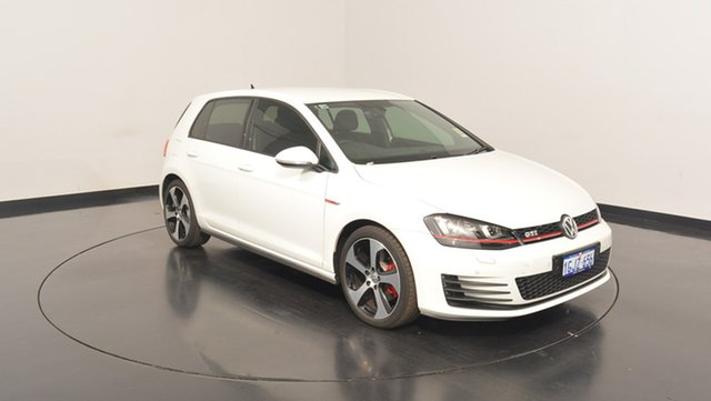 Used Volkswagen Golf VII MY17 GTi, 2017 Volkswagen Golf VII MY17 GTi Pure White 6 Speed Manual Hatchback