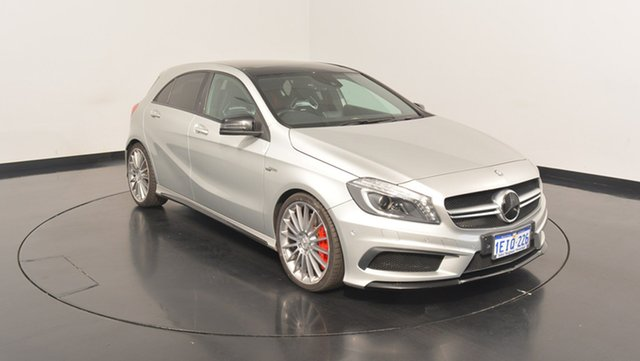 Used Mercedes-Benz A45 W176 AMG SPEEDSHIFT DCT 4MATIC, 2013 Mercedes-Benz A45 W176 AMG SPEEDSHIFT DCT 4MATIC Silver 7 Speed Sports Automatic Dual Clutch