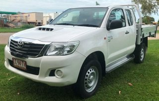 2015 Toyota Hilux KUN26R MY14 SR Xtra Cab White 5 Speed Manual Utility