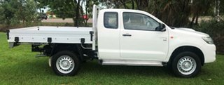2015 Toyota Hilux KUN26R MY14 SR Xtra Cab White 5 Speed Manual Utility.