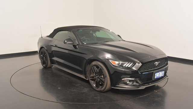 Used Ford Mustang FM MY17 SelectShift, 2016 Ford Mustang FM MY17 SelectShift Shadow Black 6 Speed Sports Automatic Convertible