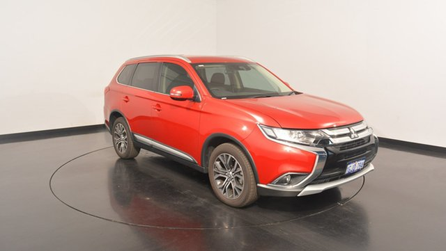 Used Mitsubishi Outlander ZK MY17 LS 4WD Safety Pack, 2016 Mitsubishi Outlander ZK MY17 LS 4WD Safety Pack Red 6 Speed Sports Automatic Wagon