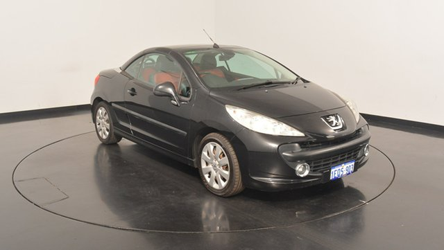 Used Peugeot 207 A7 CC, 2007 Peugeot 207 A7 CC Black 5 Speed Manual Cabriolet