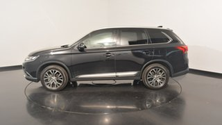 2016 Mitsubishi Outlander ZK MY17 LS 2WD Safety Pack Black 6 Speed Constant Variable Wagon.