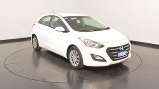 2016 Hyundai i30 GD4 Series II MY17 Active Polar White 6 Speed Sports Automatic Hatchback.