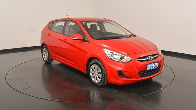 Used Hyundai Accent RB4 MY16 Active, 2016 Hyundai Accent RB4 MY16 Active Veloster Red 6 Speed Constant Variable Hatchback