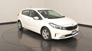 2017 Kia Cerato YD MY17 S Clear White 6 Speed Sports Automatic Hatchback.
