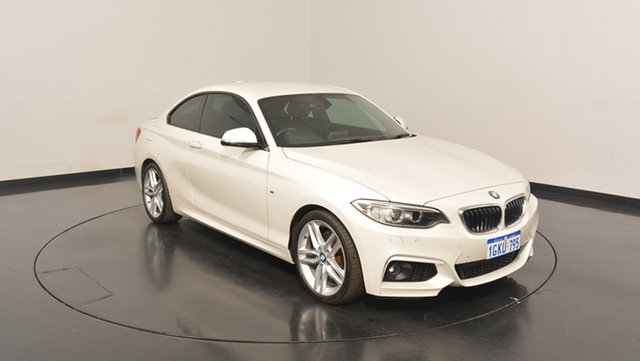 Used BMW 228I F22 M Sport, 2015 BMW 228I F22 M Sport Mineral White 8 Speed Sports Automatic Coupe