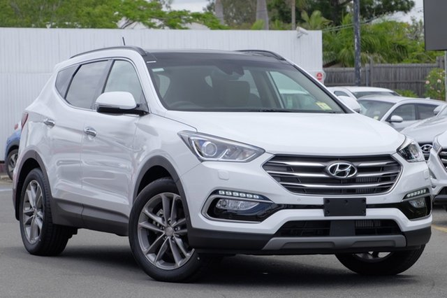 Demo Hyundai Santa Fe DM5 MY18 Highlander Albion, 2018 Hyundai Santa Fe DM5 MY18 Highlander Pure White 6 Speed Sports Automatic Wagon