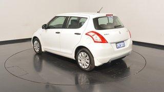 2012 Suzuki Swift FZ GA White 4 Speed Automatic Hatchback.
