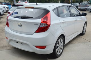 2017 Hyundai Accent RB6 MY18 Sport Chalk White 6 Speed Sports Automatic Hatchback.