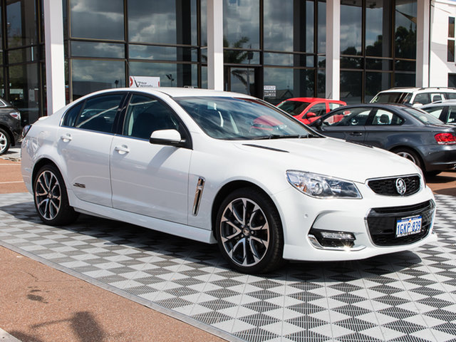 Used Holden Commodore VF II MY16 SS V, 2016 Holden Commodore VF II MY16 SS V Heron White 6 Speed Sports Automatic Sedan