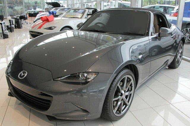 New Mazda MX-5 ND GT SKYACTIV-Drive Paradise, 2021 Mazda MX-5 ND GT SKYACTIV-Drive Polymetal Grey 6 Speed Sports Automatic Roadster
